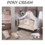 Lenjerie de pat Feretti Trio Pony Cream