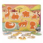 Puzzle muzical - Animale din savana