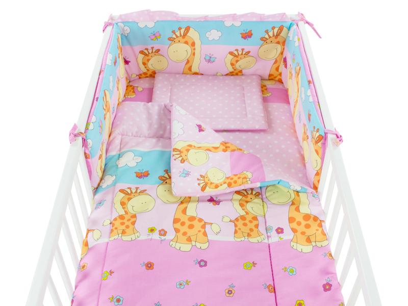 Aparatoare laterala Happy Giraffe roz 140x70