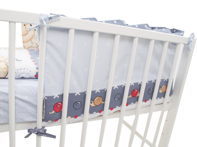 Aparatoare laterala Teddy Friends Gri M1 120x60