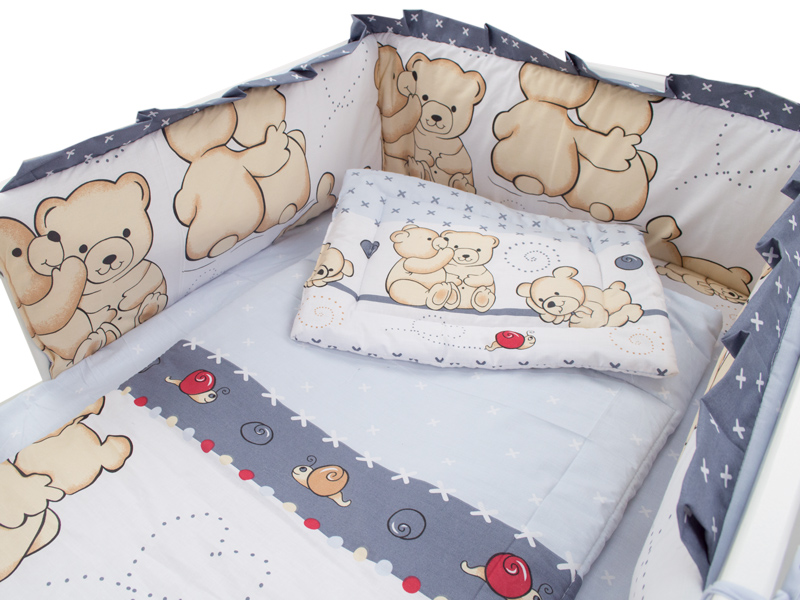 Aparatoare laterala Teddy Friends Gri M1 140x70