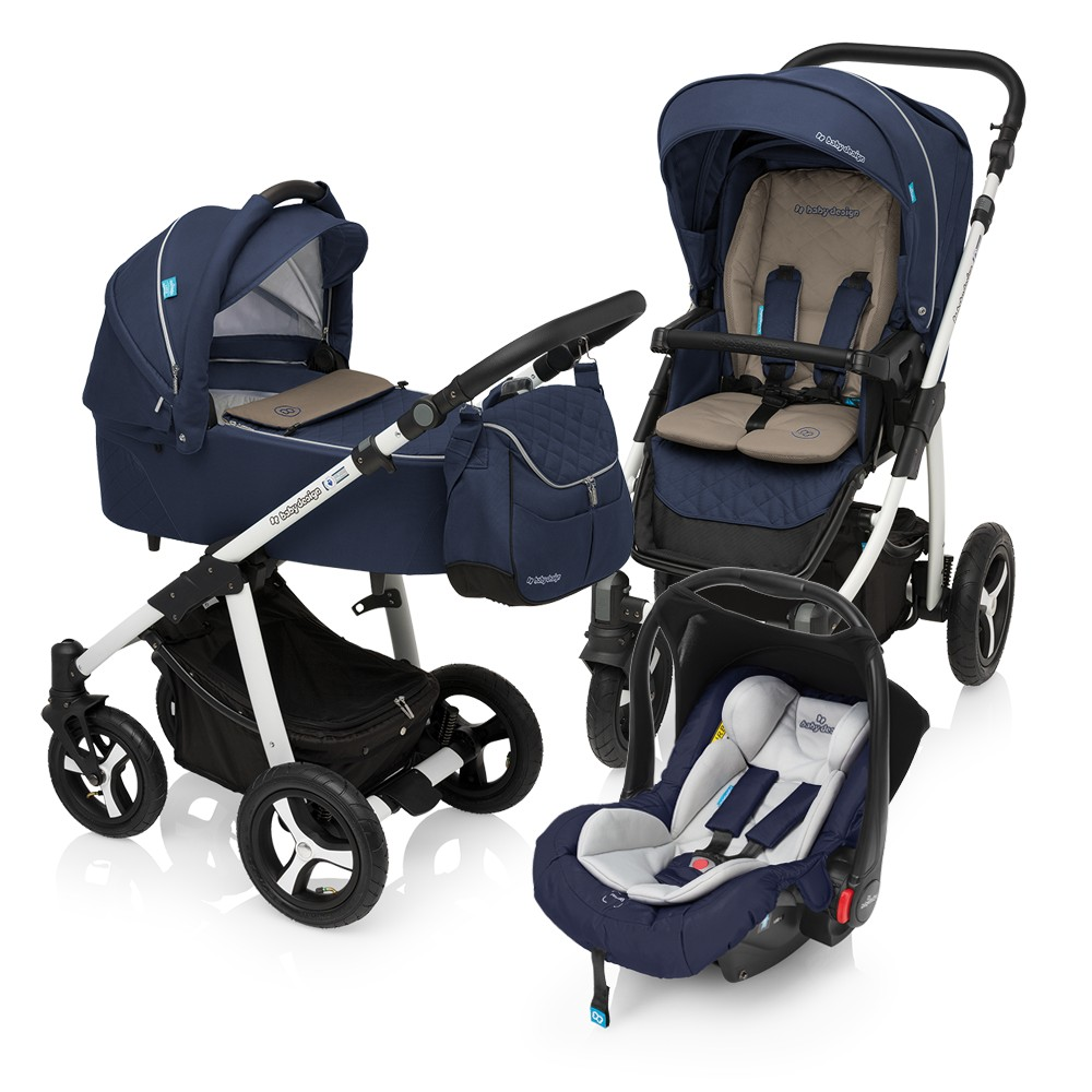 Carucior Multifunctional 3in1 Baby Design Lupo Comfort 03 Navy 2017
