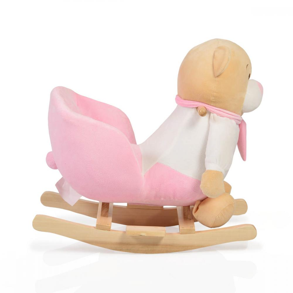 Balansoar pentru copii Bear Pink cu sunete imagine