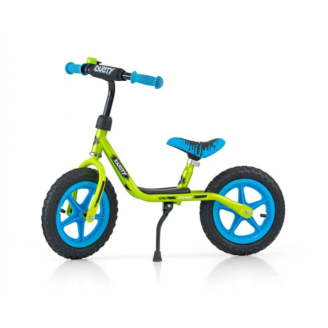 Bicicleta fara pedale Dusty 12 Green Blue