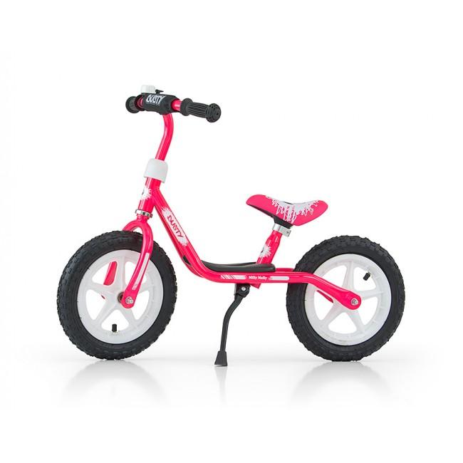 Bicicleta fara pedale Dusty 12 Pink White