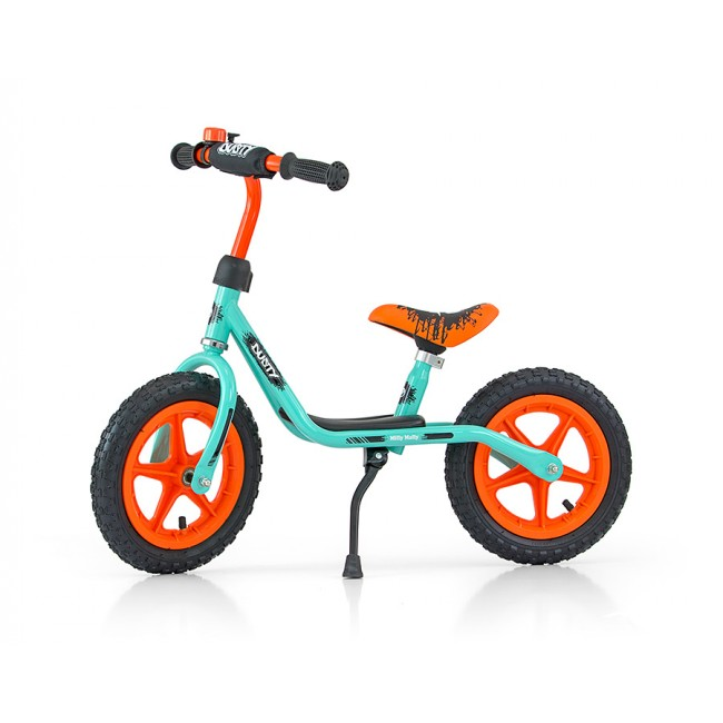Bicicleta fara pedale Dusty Green Orange