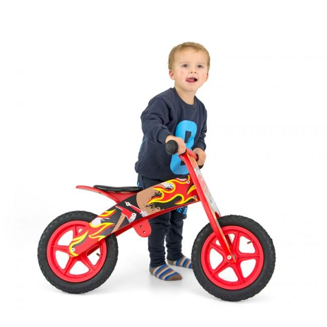Bicicleta fara pedale Flip Red Fireman