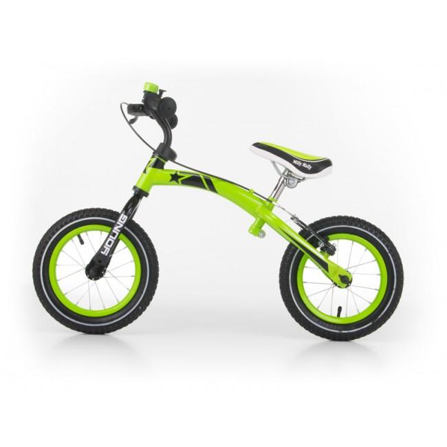 Bicicleta fara pedale Young Green cu frana