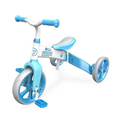 Bicicleta fara pedale Yvelo Flippa 2in1 blue