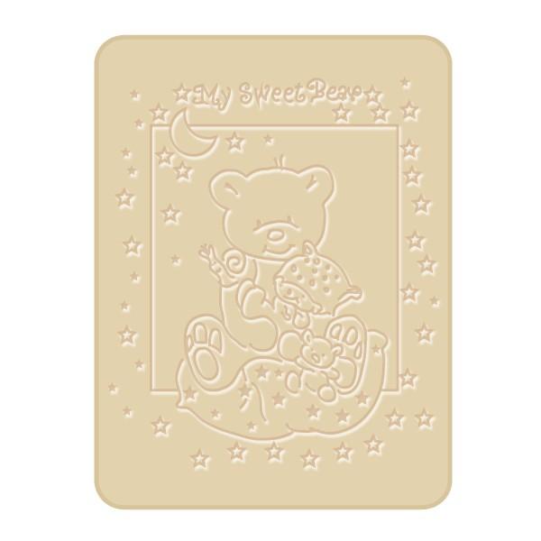 Paturica Plusata 3D 80×110 cm Ursulet maro BoboBaby din categoria Camera copilului de la Bobobaby