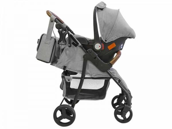 Carucior Joe pentru copii 2 in 1 sport cu scoica si geanta Just Baby
