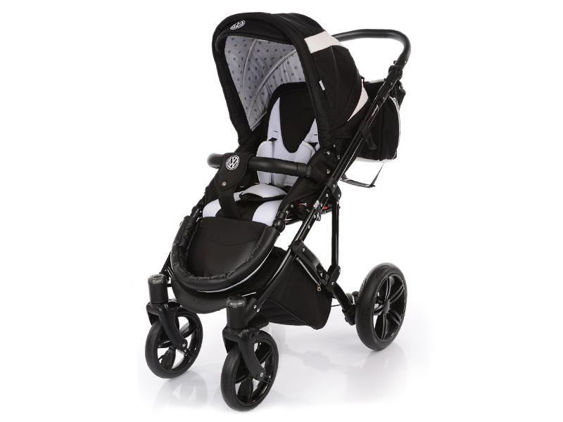 Carucior copii 2 in 1 cu landou Knorr-Baby Volkswagen Carbon Optik Black