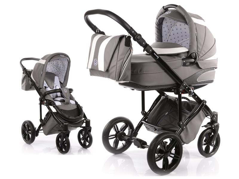 Carucior copii 2 in 1 cu landou Knorr-Baby Volkswagen Carbon Optik Grey - 3