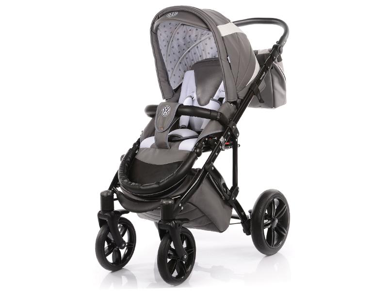 Carucior copii 2 in 1 cu landou Knorr-Baby Volkswagen Carbon Optik Grey