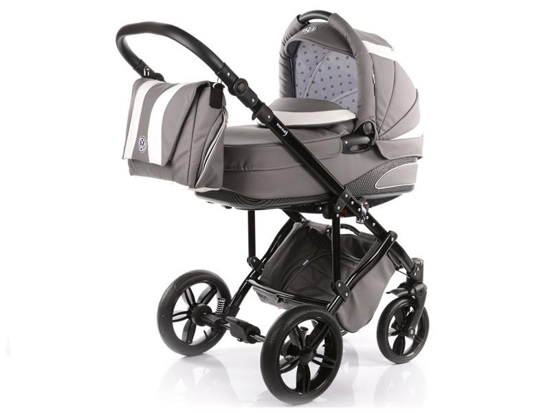 Carucior copii 2 in 1 cu landou Knorr-Baby Volkswagen Carbon Optik Grey - 1