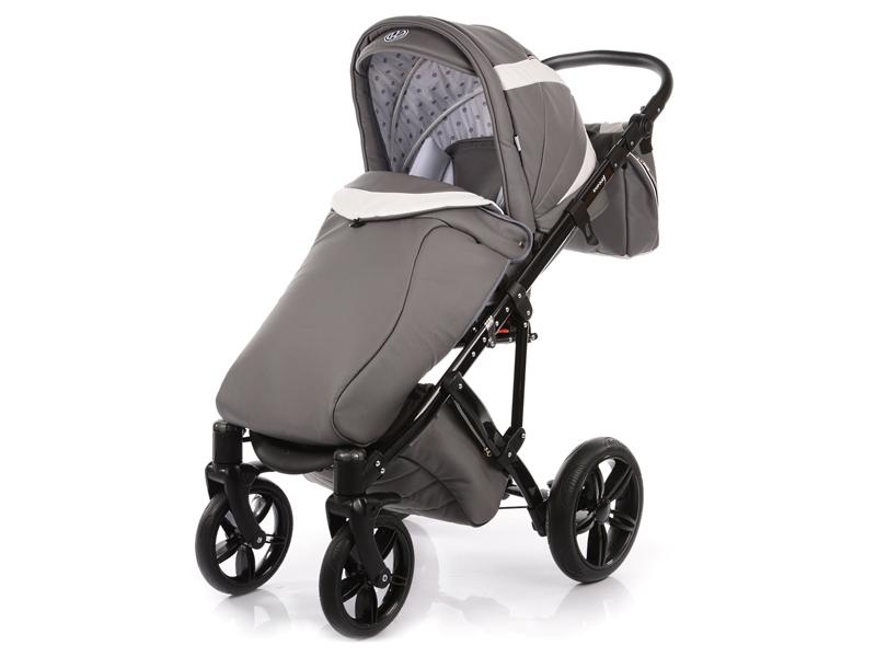 Carucior copii 2 in 1 cu landou Knorr-Baby Volkswagen Carbon Optik Grey - 2