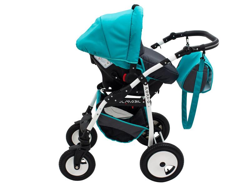 Carucior copii 3 in 1 Futuro Turquoise