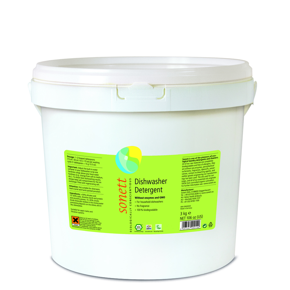Detergent ecologic praf pentru masina de spalat vase Sonett 3kg din categoria Alimentatie de la Sonett