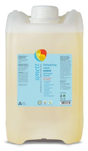 Detergent ecologic pentru spalat vase neutru Sonett 10L imagine