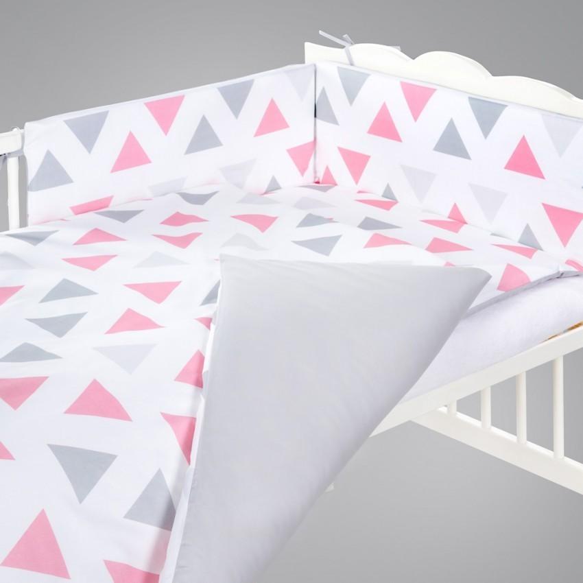 Set lenjerie 3 piese Klups Triunghiuri pinkgrey
