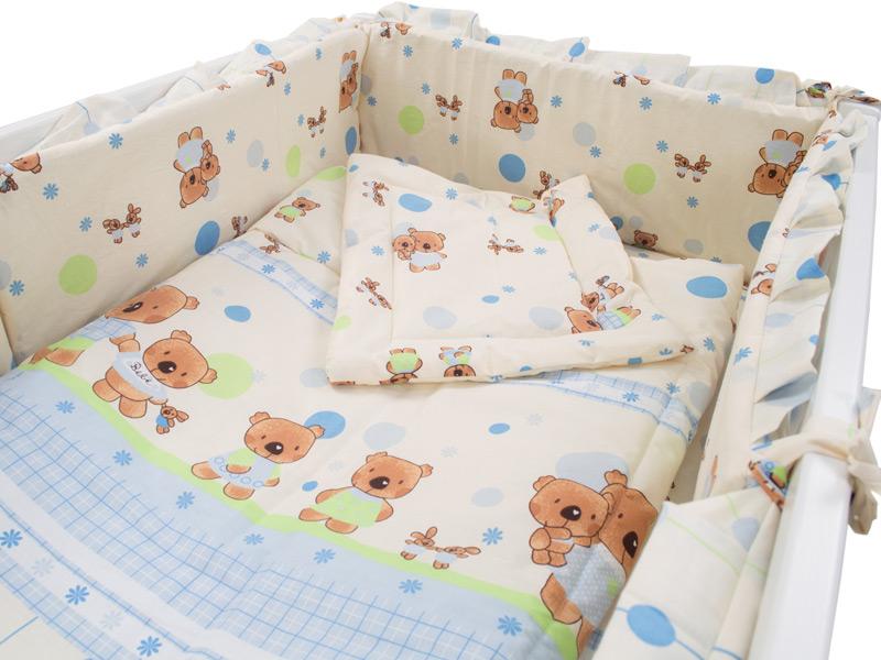 Lenjerie Baby Teddy Crem 4+1 piese 120x60