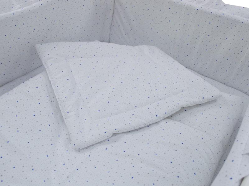 Lenjerie Little Stars Albastru 4+1 piese 120x60