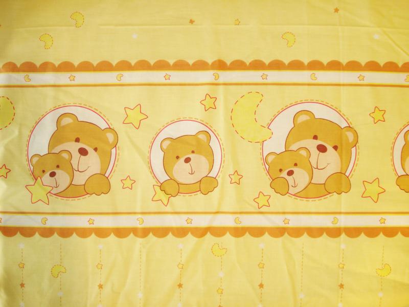 Lenjerie Teddy night galben 4+1 piese 140x70