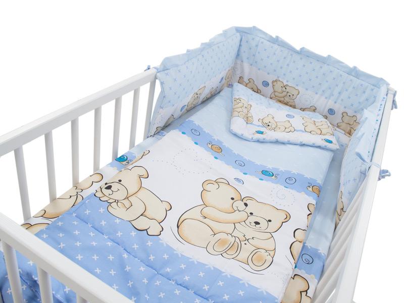 Lenjerie Teddy Friends Albastru 4 piese M2 140x70