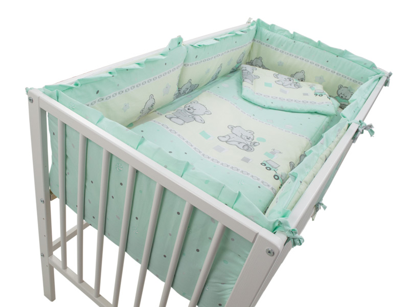 Lenjerie Teddy Toys Turquoise 5 piese M2 120x60