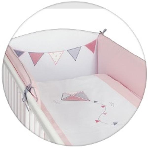 Lenjerie De Pat Cu 3 Piese Little Kite Pink