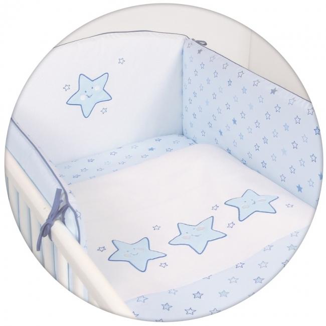Lenjerie de pat cu 3 piese Steluta albastra
