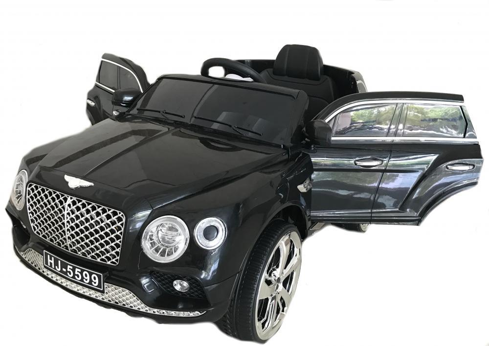 Masinuta electrica cu telecomanda 2,4 Ghz si deschidere usi Luxury Black