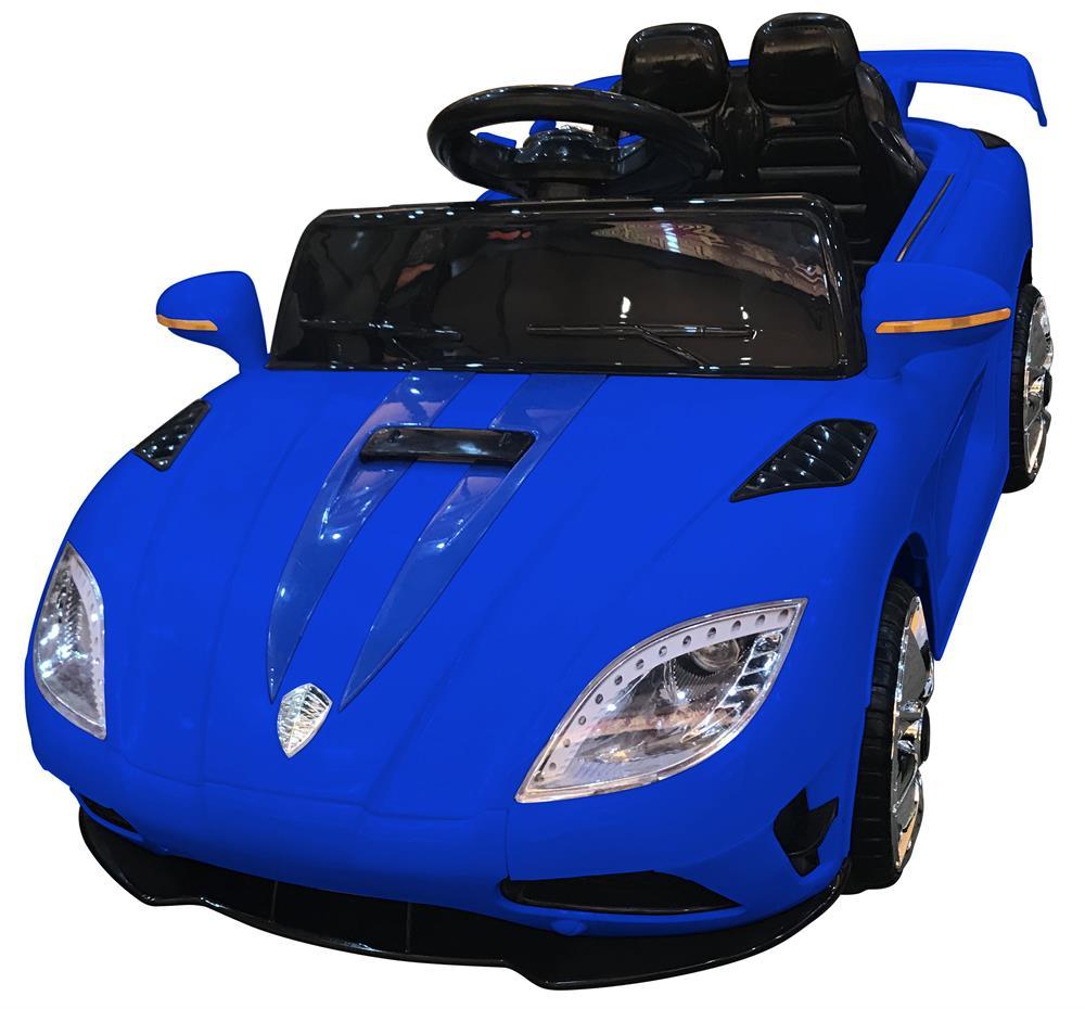 Masinuta electrica cu telecomanda 2.4 Ghz si deschidere usi Tiger Blue