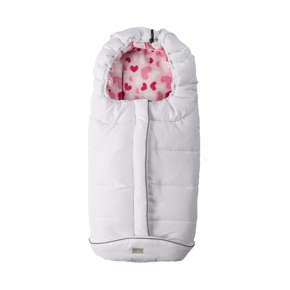 Sac de iarna Nuvita City Junior Nuvita City Junior WhitePink Hearts 9545