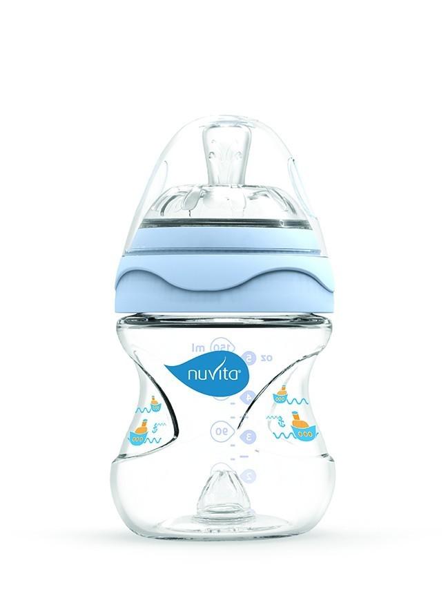 Biberon 150 ml Nuvita Mimic 6010 albastru din categoria Alimentatie de la NUVITA