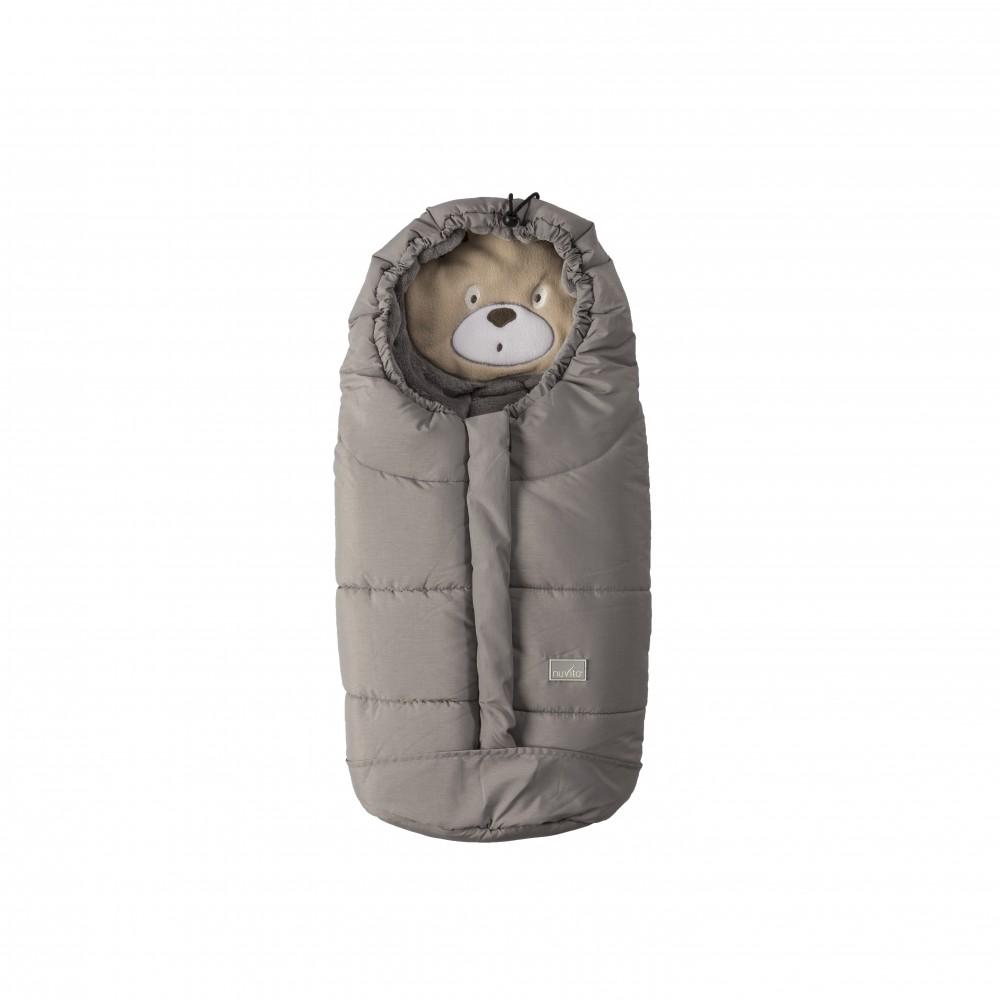 Sac de iarna Nuvita Ovetto Cuccioli Bear Melange light greyGrey 9205