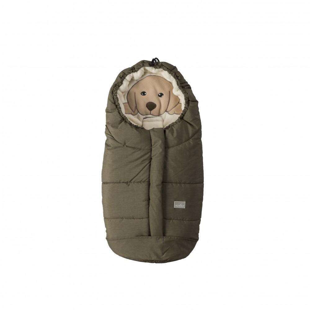 Sac de iarna Nuvita Ovetto Cuccioli Dog Melange OliveBeige 9205