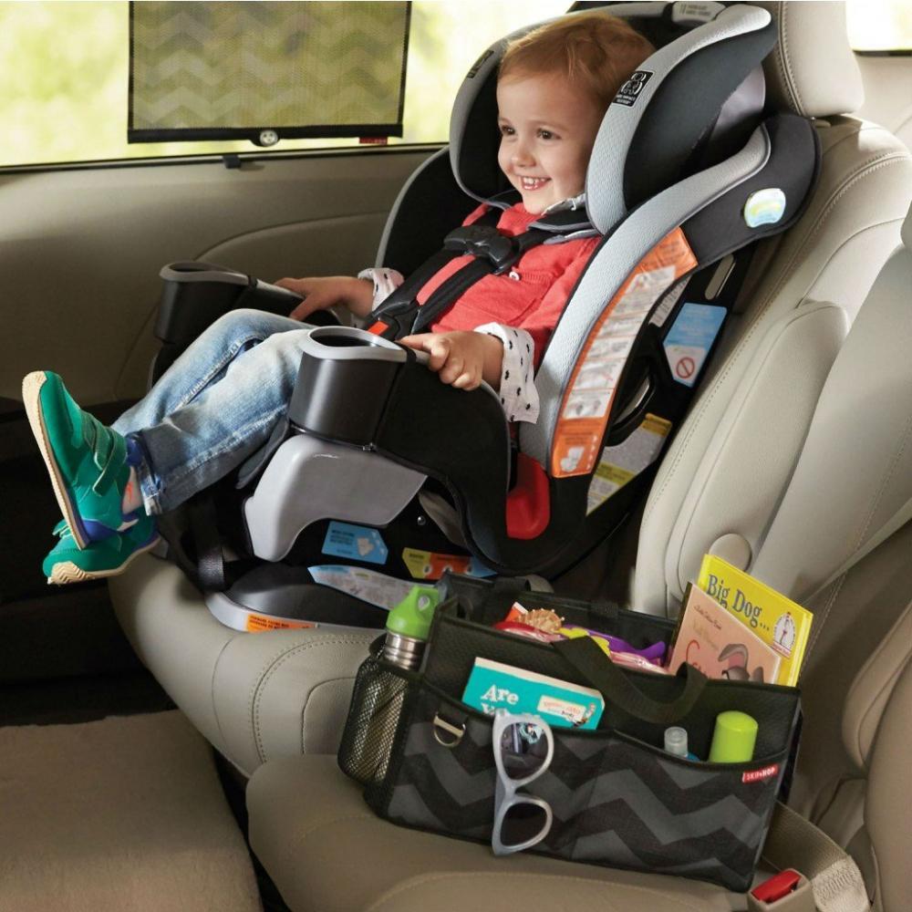 Organizator auto pentru bebe Skip Hop Style Driven Tonal Chevron