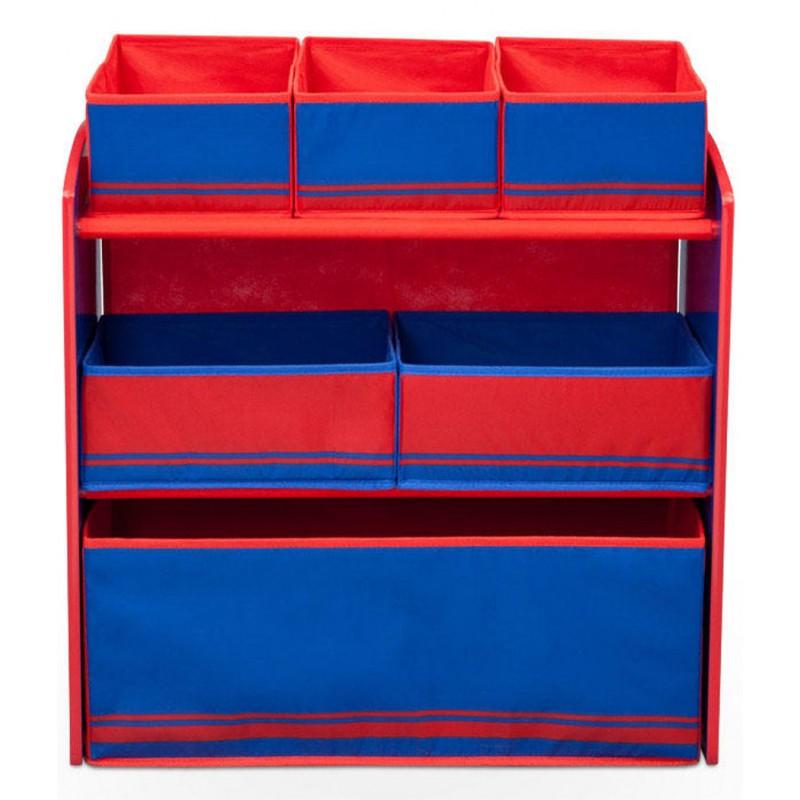 Organizator jucarii cu cadru din lemn Love Blue Red