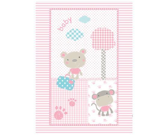 Paturica pentru copii 110x80 cm Fantasia Pink