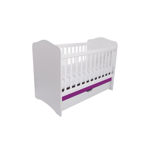 Patut Como cu sertar alb cu violet