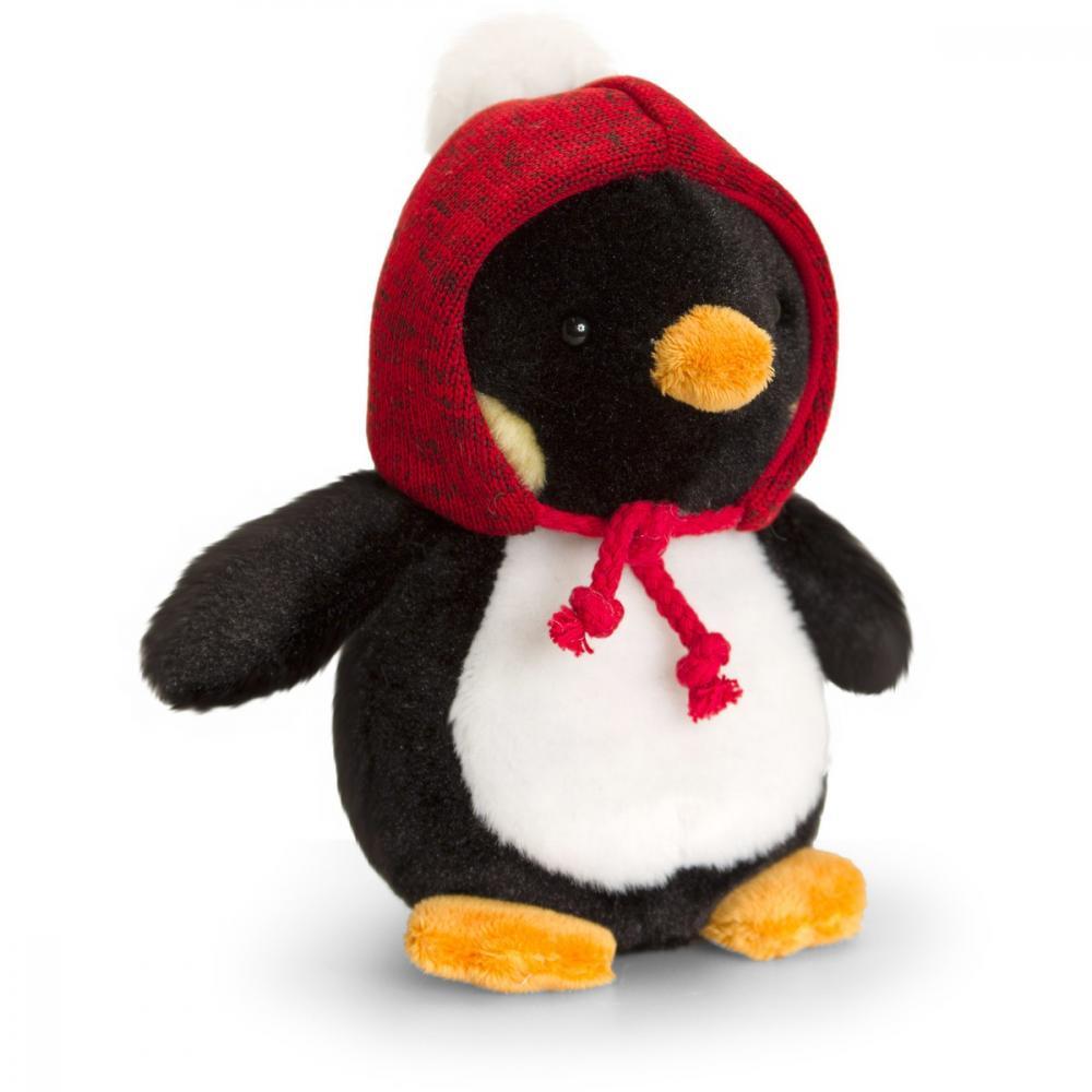 Pinguin de plus cu caciulita 15 cm Scoodie