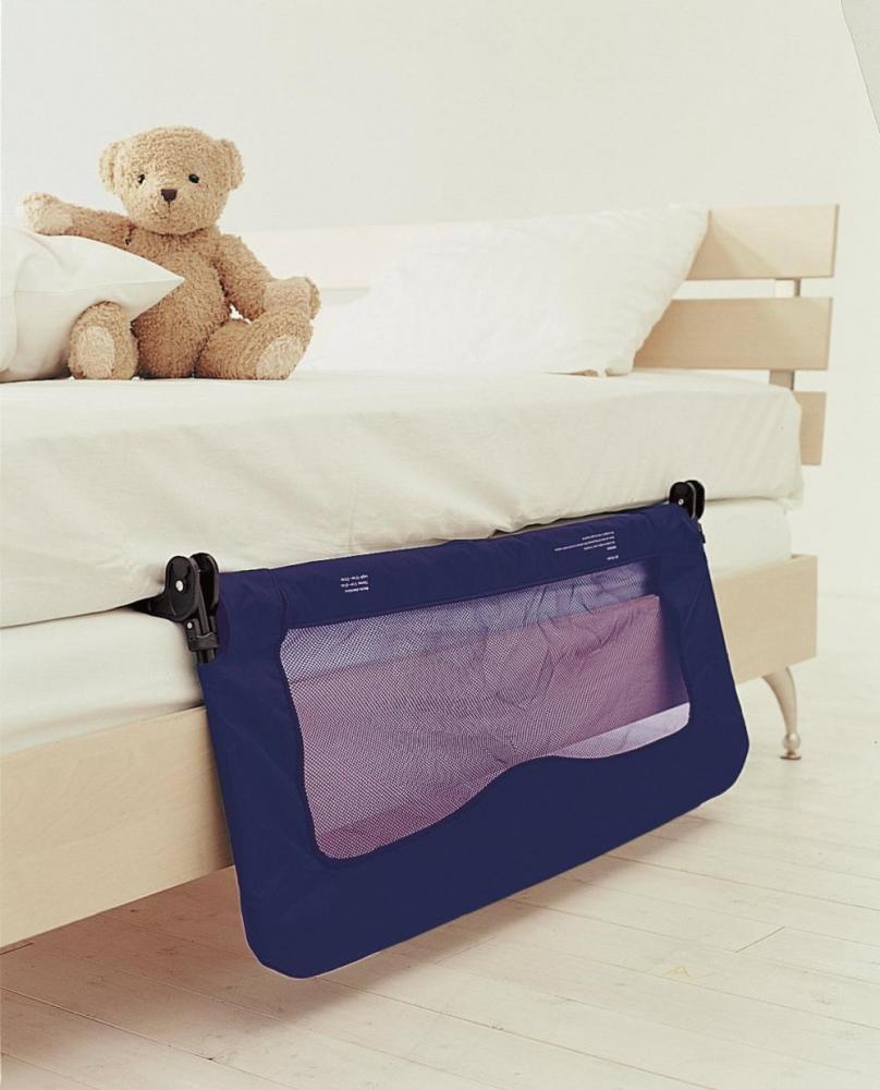 Protectie laterala pliabila pentru pat bebe Baby Dan bleumarin