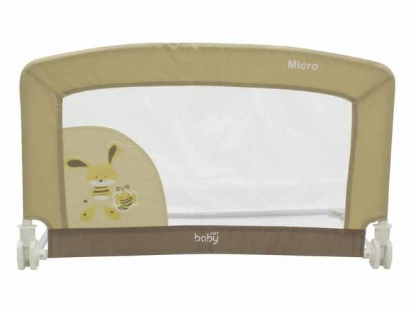 Bariera protectie pat Micro pentru bebelusi Just Baby Bej