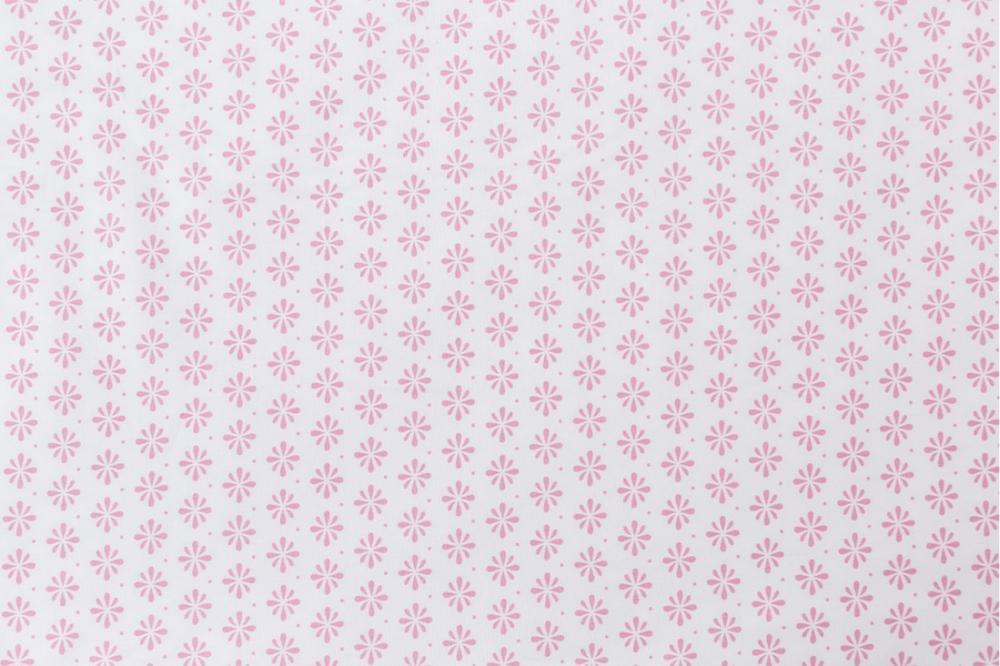 Protectie patut 60 x 120 cm Floricele roz