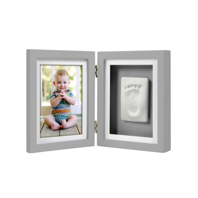 Rama foto gri pentru amprenta Pearhead Babyprints Desk Frame