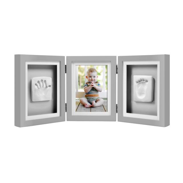Rama foto gri pentru amprenta Pearhead Delux Triple Desk Frame