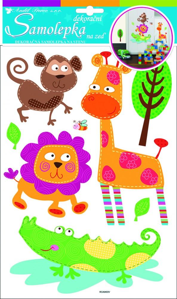 Sticker de perete Room Decor animale din safari 35x21cm
