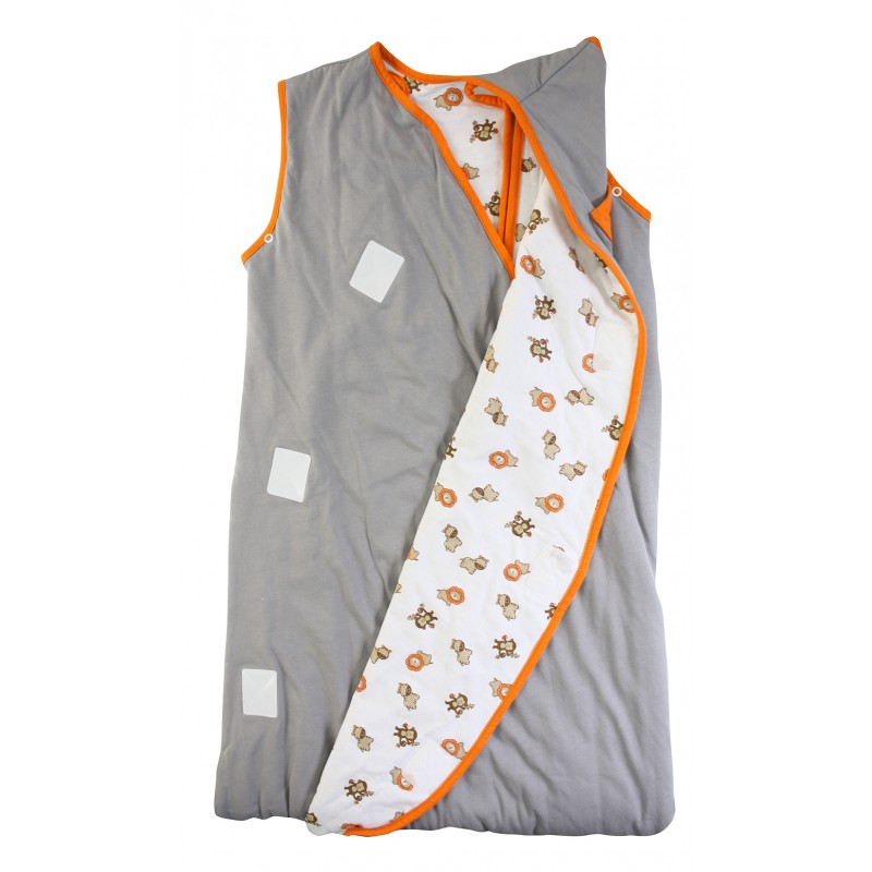 Sac de dormit multifunctional Grey Orange Zoo Animal Travel 1-3 ani