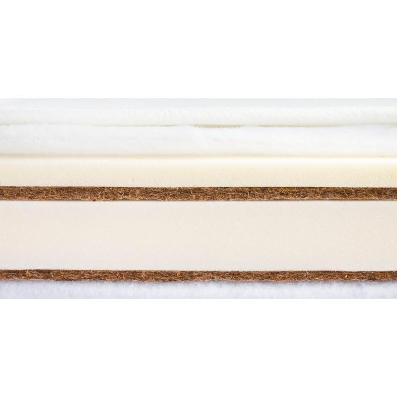 Saltea Memory Termo Cocos-Spuma-Cocos cu Aloe Vera 140x70x12 cm